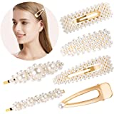 Souarts Hair-Clips Pearl-Hair-Clips for Women Girls Styling Hair Pins Color Gold Hair Barrettes Wedding Bridal Hair Accessories
