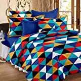 Story@Home 120 TC 100% Cotton Yellow 1 Double Bedsheet With 2 Pillow Cover
