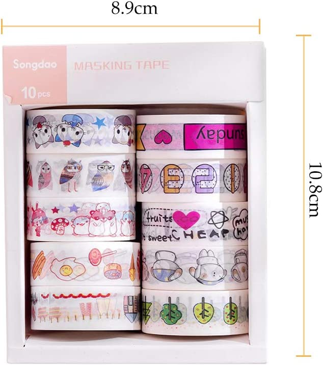 Bfling 20 rollos cinta washi tape cintas adhesiva decorativa papel para scrapbooking DIY artesan/ías revistas