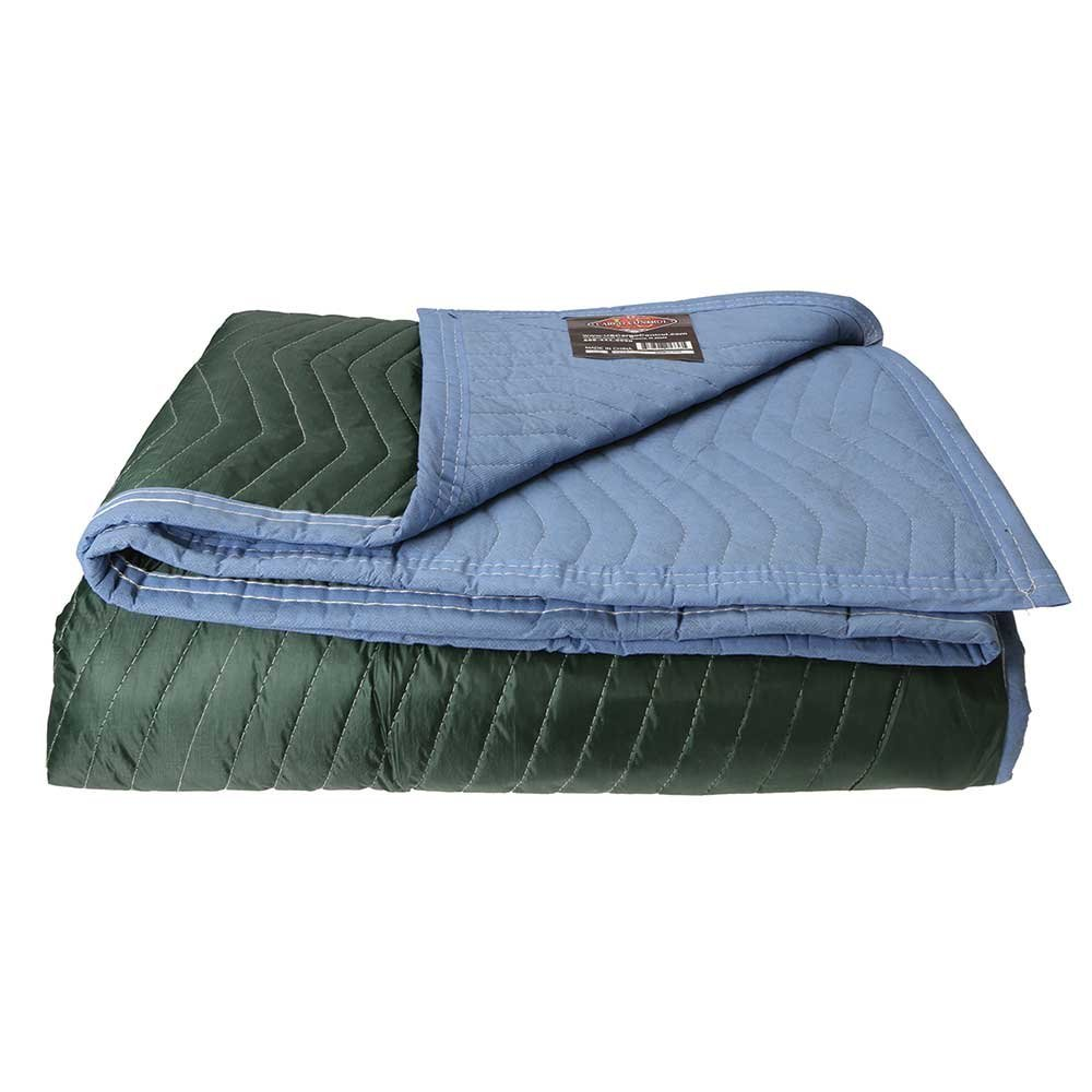 Moving Blanket (Single) 72'' X 80'' US Cargo Control - Multi Mover (6.25 Lbs/Each, Green/Light Blue)