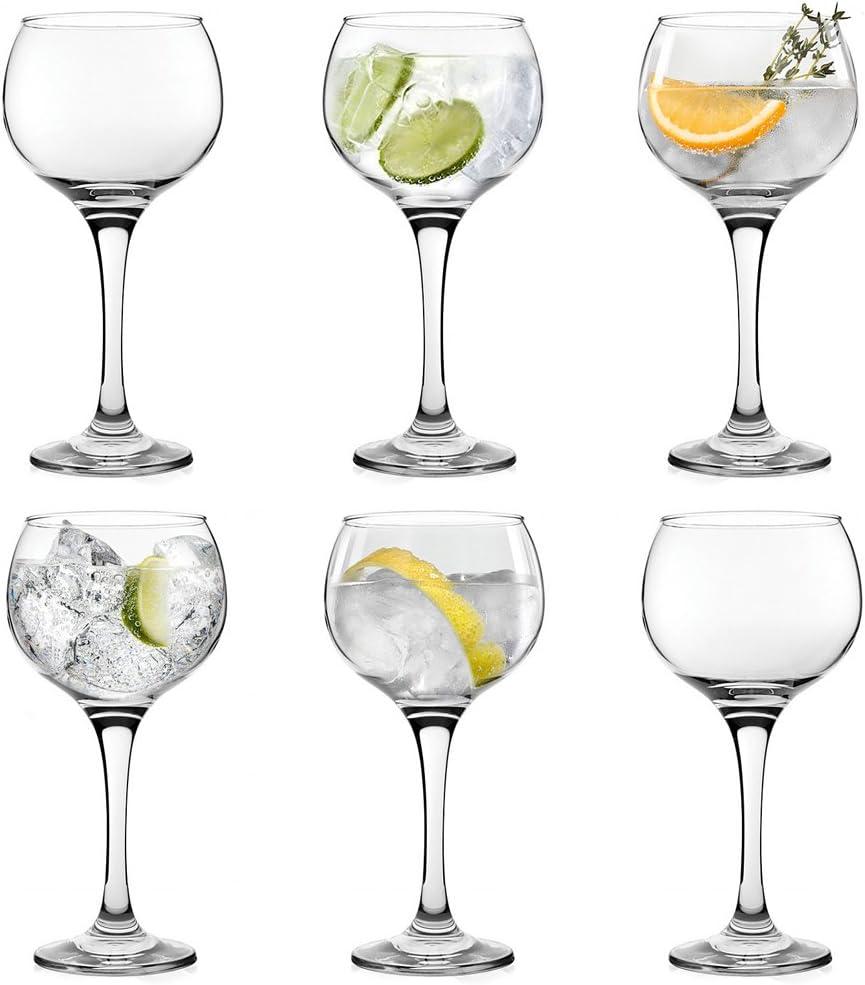 6 copas tipo balón grandes para combinados o cócteles como gin ...