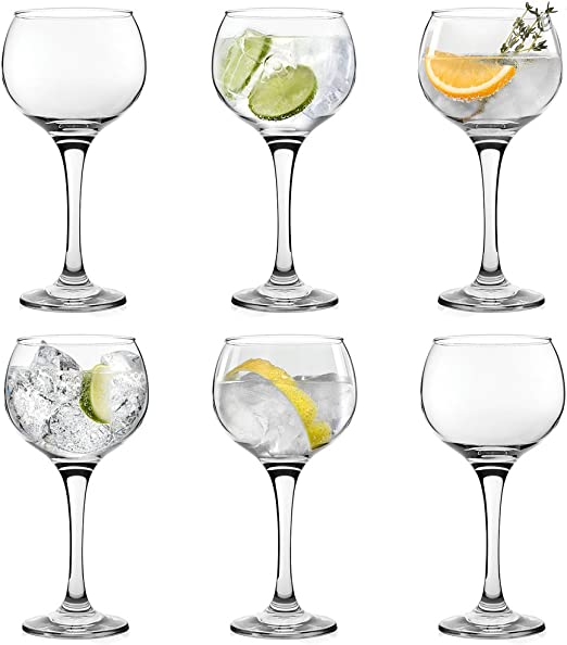 6 copas tipo balón grandes para combinados o cócteles como gin-tonic
