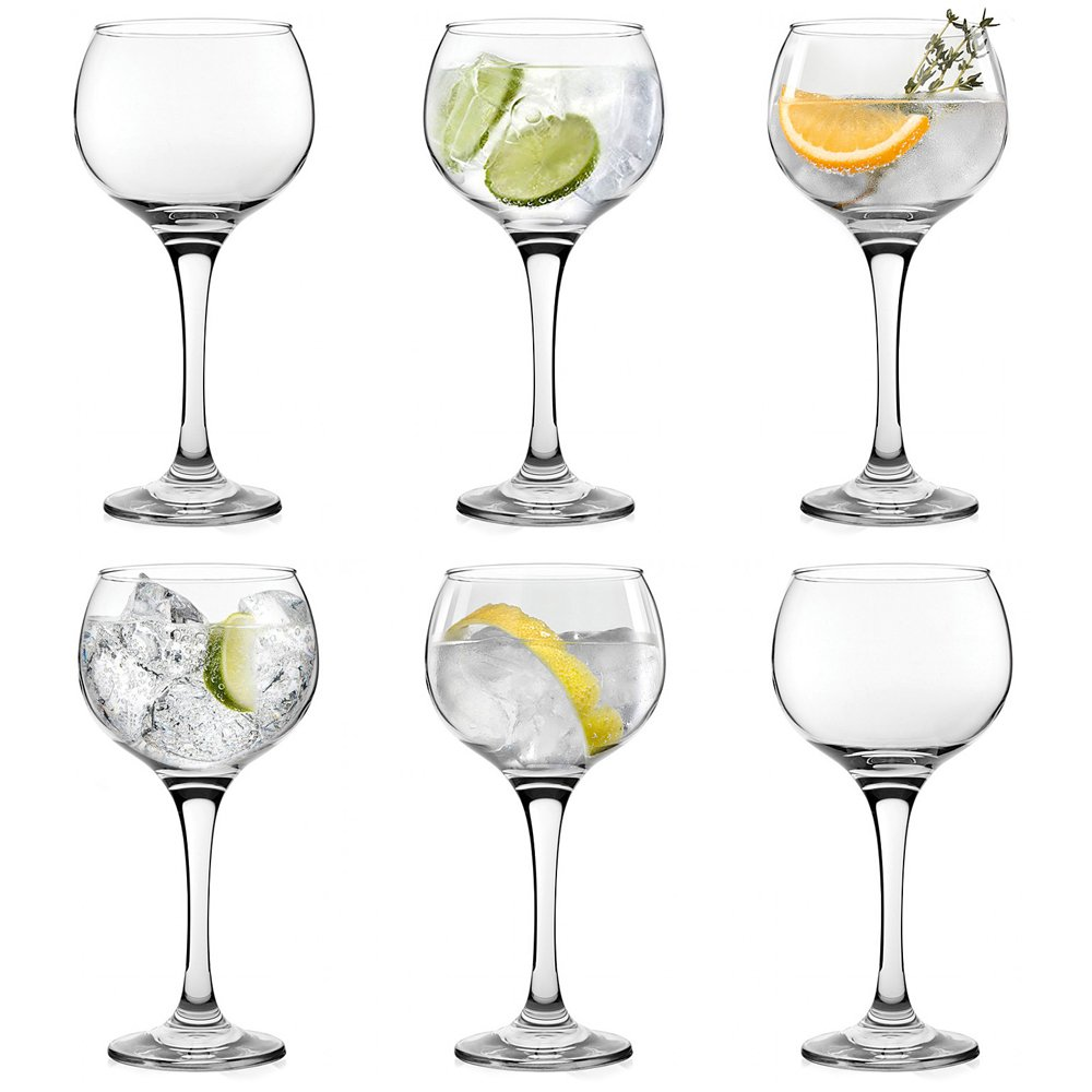 6 x Large Gin Balloon Glasses Copa Gin & Tonic Glasses For Cocktail & G&T The Kitchen Gift Company