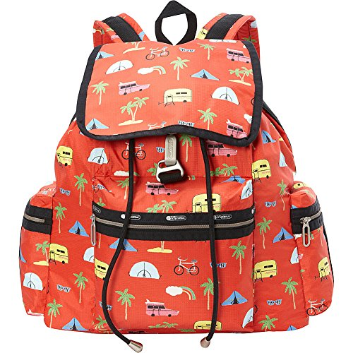 LeSportsac 3 Zip Voyager Backpack (Roadtrip Vacation Cream)
