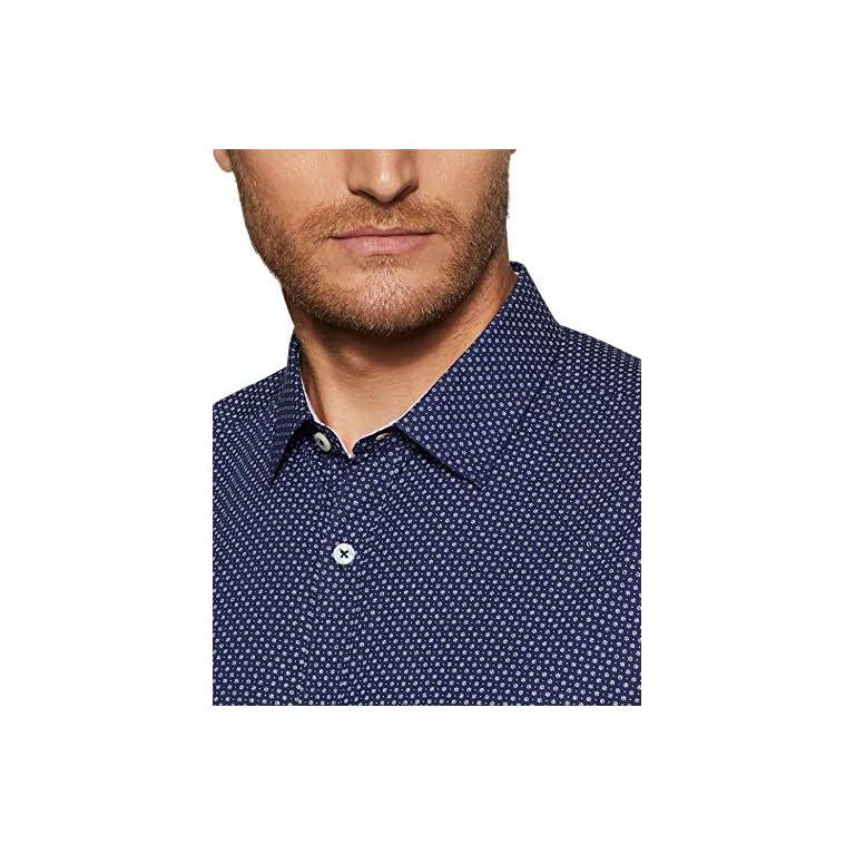 61gtGwkqbiL. SS768  - Amazon Brand - Symbol Men's Slim Fit Full Sleeve Cotton Formal Shirt