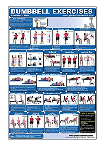 Laminated Dumbbell Exercise Poster Chart