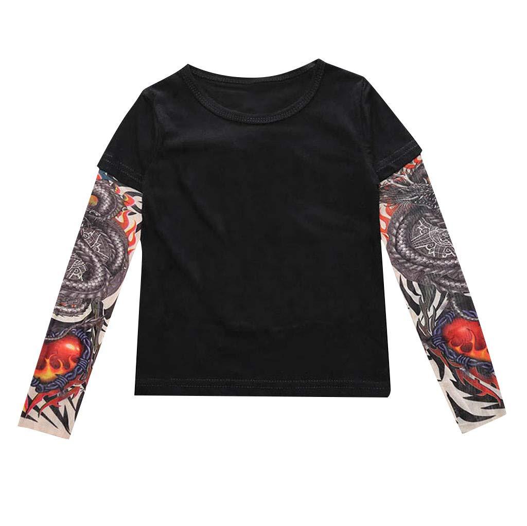 Barboteuse Halloween Fleur Costume Zipp/é Combinaison Pulls Tops V/êTements Body Hauts T-shirt enfant en bas /âge pour b/éb/é gar/çon avec t-shirt /à manches imprim/ées tatouage F,80