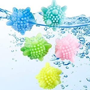 Colorful Laundry Ball Solid Washing Ball Laundry Scrubbing Balls,20 Pcs Use Less Detergent/Anti-Winding Balls/Lint Hair Catcher for Washing Machine