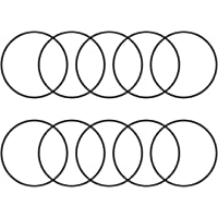 uxcell® O-Rings Nitrile Rubber, 60mm Inner Diameter, 64mm OD, 2mm Width, Round Seal Gasket(Pack of 10)