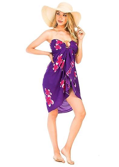 afa8edd8d3 Women's Casual Summer Turtle Printed Sarong Bikini Cover Up and Beach  Sundress (NSR-46 Purple) at Amazon Women's Clothing store: