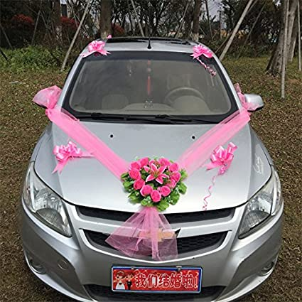 Buy pinkdose pinkdose style 8 wedding car fleet car flower pinkdose pinkdose style 8 wedding car fleet car flower decoration special style bride wedding decoration junglespirit Gallery