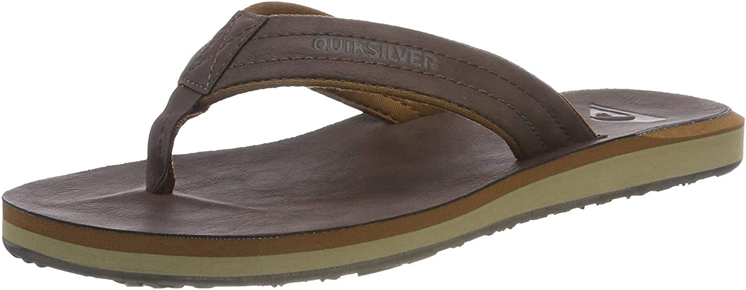 Quiksilver Carver Nubuck-Sandals For Men, Zapatos de Playa y Piscina para Hombre