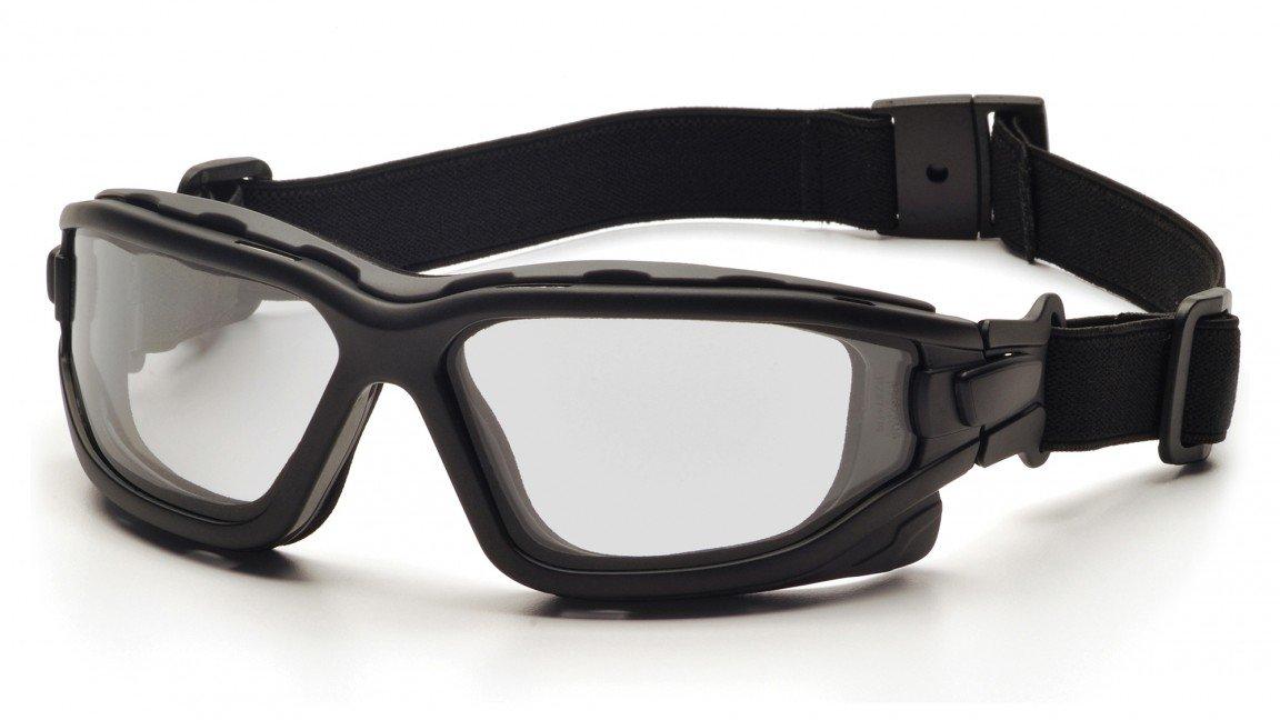 Pyramex SB7010SDT I-Force Safety Glasses Blk Frme w/Clear Anti-Fog Lens