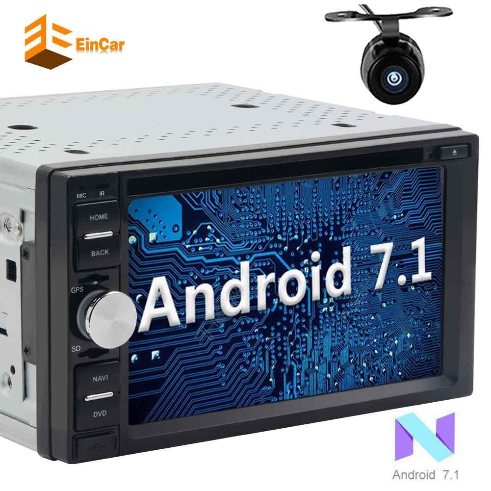 ダブルディンEinCarアンドロイド7.1カーDVDプレーヤーダッシュBluetoothの車のラジオレシーバーサポートMirrorlink / 1080P / OBD2 +バックアップカメラにGPSナビゲーションと6.2「」HDタッチスクリーンカーステレオ B0783Q3XGY
