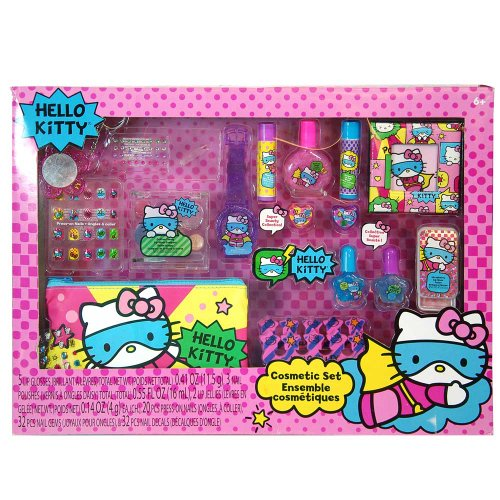 Hello Kitty Cosmetic Set - SANRIO Hello Kitty Mega Boxed Cosmetic Make-Up Set