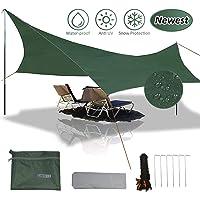 gracosy Waterproof Camping Tarp Sunshade UV Protection Lightweight Outdoor Adventure Hiking Camping Backpacking Picnic Tent Tarp