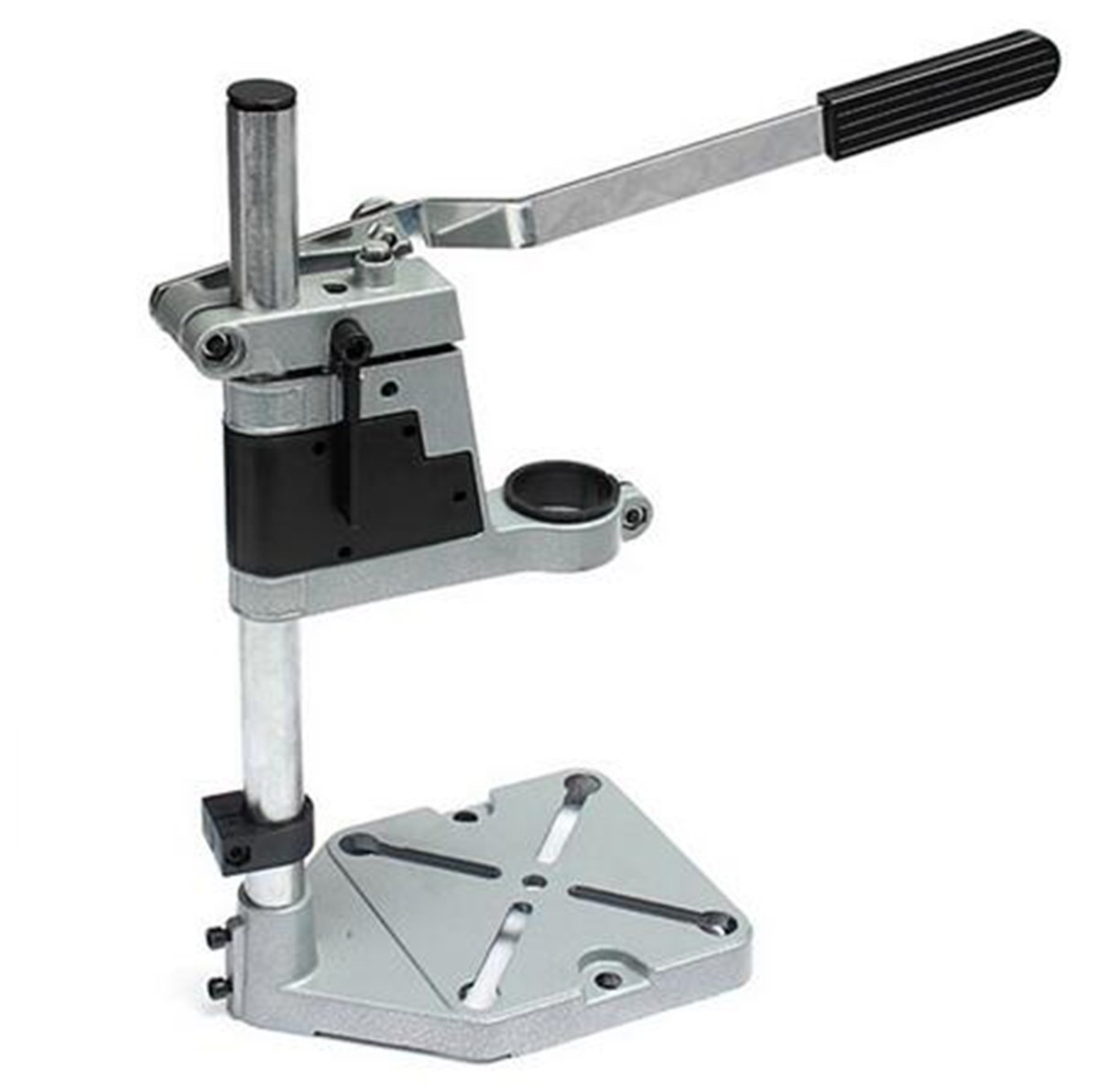 Yosoo Aluminum Multifunction Rotary Tool Bench Drill Press Support Stand Work Station Workbench Repair Tools Clamp For Drilling Collet