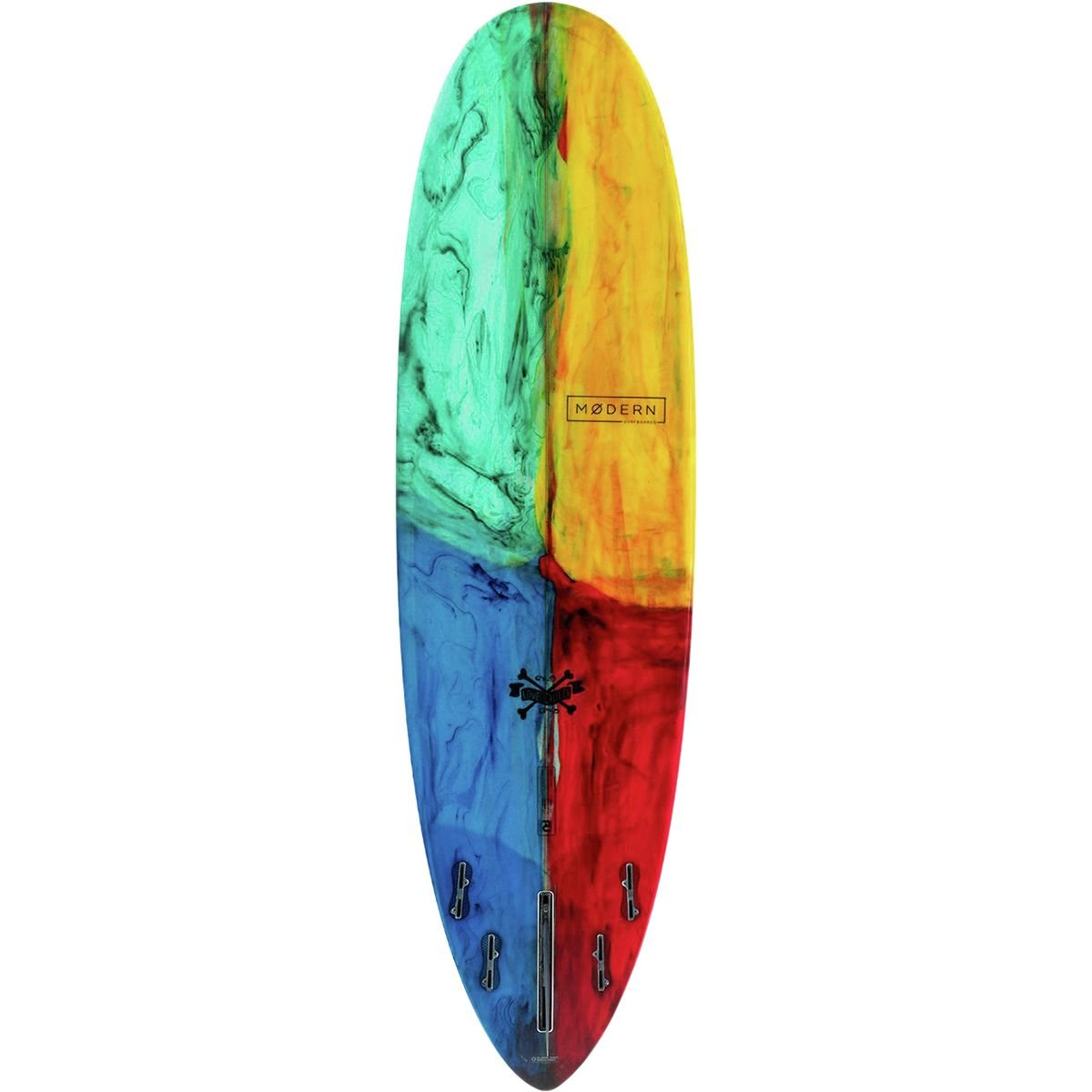 Amazon.com : Modern Surfboards Love Child PU Surfboard Kaleidoscope Tint, 6ft 4in : Sports & Outdoors