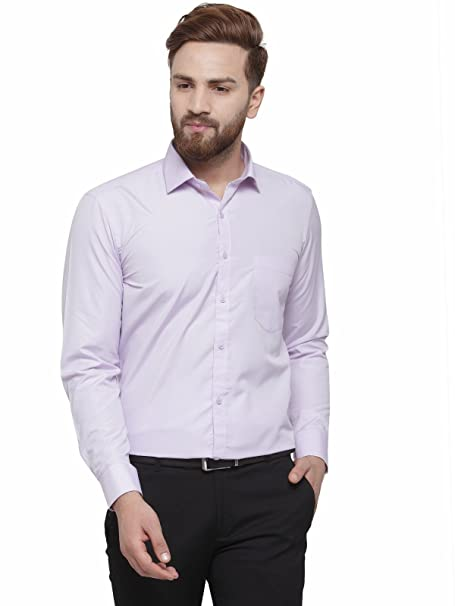 8dc6ef18f1fe RG Designers Purple Solid Slim Fit Cotton Formal Shirt for Men: Amazon.in:  Clothing & Accessories