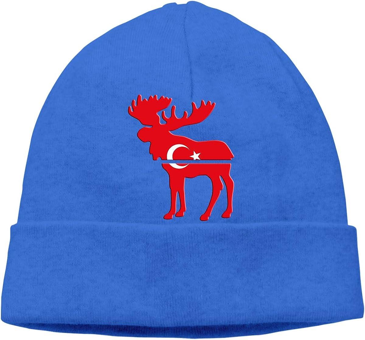 BBlooobow Unisex Moose Turkey Flag Soft Knit Caps