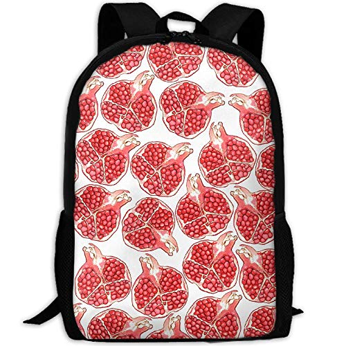 Pomegranate Adult Travel Backpack School Casual Daypack Oxford Outdoor Laptop Bag College Computer Shoulder Bags