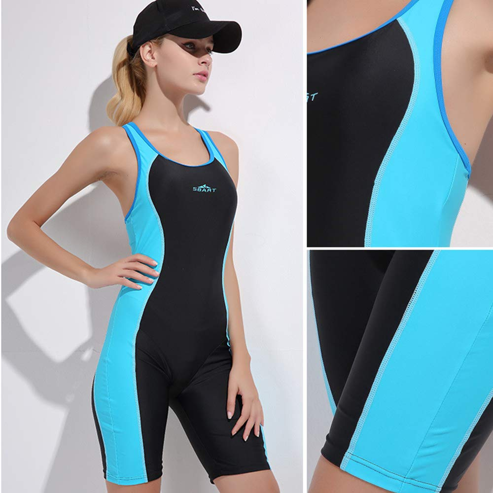 blue wetsuit HBRT Womens swimsuit sports swimwear slim backless diving suit for scuba diving Snorkeling swimming boating