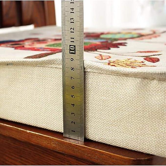 Color : A, tama/ño : 40cm LAZ Cojines de los Asientos de Coches Oficina Square Comedor coj/ín Espesar Lavable Booster Silla Nalgas del coj/ín Cojines