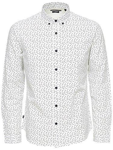 Only & Sons Herren Freizeit-Hemd weiß weiß
