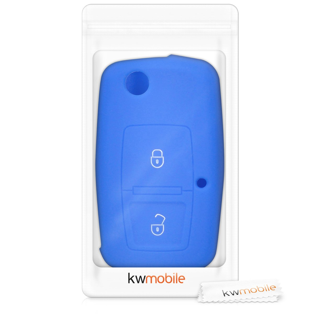 Red Silicone Protective Key Fob Cover for VW Skoda SEAT 2 Button Flip Key kwmobile Car Key Cover for VW Skoda Seat