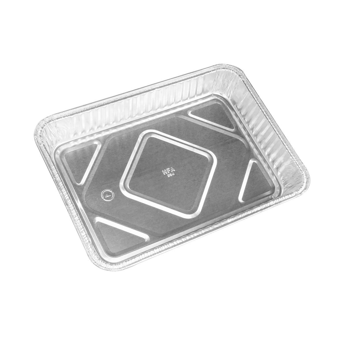 KitchenDance Disposable Aluminum 13 x 9 x 2 Cake pans with Lids- Pack of 12 pans & 12 Lids by KitchenDance (Image #1)
