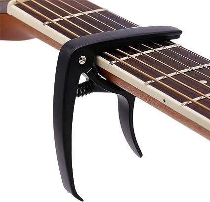 Cejilla de guitarra para guitarra acústica y eléctrica con ...