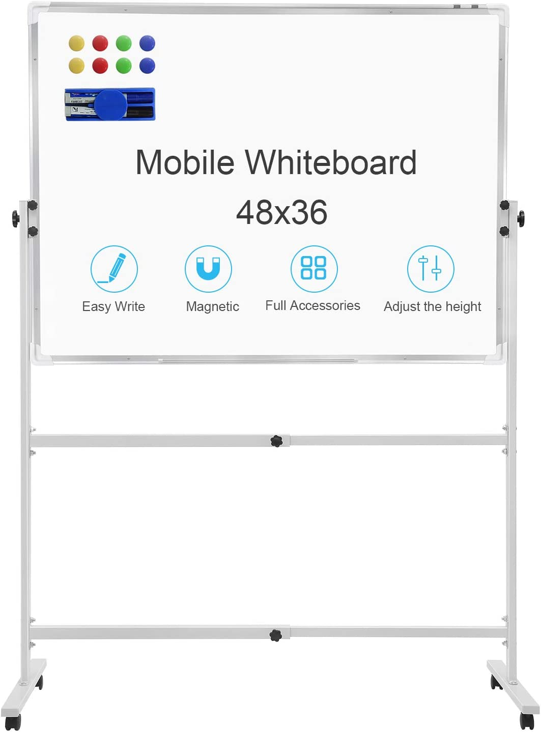 bestfurnitures Mobile Dry Erase Board with Stand 48