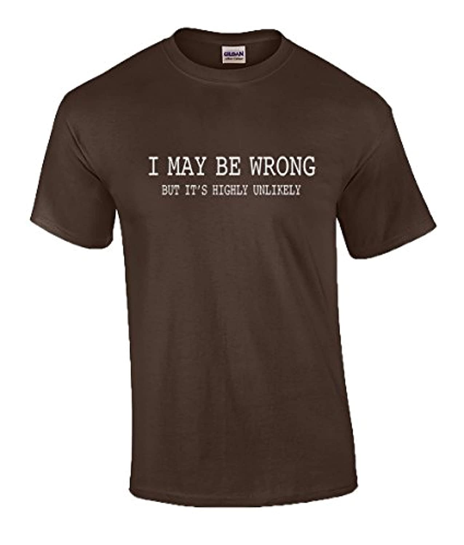 652f3dfad Amazon.com: Trenz Shirt Company Mens Funny Sayings Slogans T Shirts-I May  Be Wrong Tshirt: Clothing