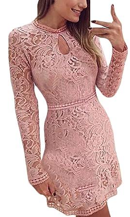 Vintage abendkleider spitze rosa