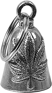 product image for Hot Leathers BEA1109 Silver Pot Leaf Guardian Bell, 1x1.5