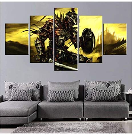 55X100 cm DCYHSA Leinwanddrucke 5 St/ücke Goblin Slayer Poster Schlafzimmer Wohnzimmer Malerei Wandkunst Moderne Dekoration Kein Rahmen