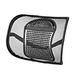 Best Office Chairs for Back Support Back Support,Vekey Lumbar Support Back Cushion Seat Cushion Elastic Band Mesh Breathable Comfortable Adjustable for All Types Car Seat Office Chair (PP Fiber Mesh, New Package)