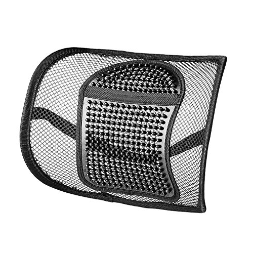 Back Support,Vekey Lumbar Support Back Cushion Seat Cushion Elastic Band Mesh Breathable Comfortable Adjustable for All Types Car Seat Office Chair (PP Fiber Mesh, New Package) by Sermicle