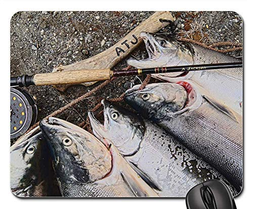 Mouse Pad - Salmon Alaska Fishing Fish Alaskan Fly Fishing