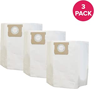 Crucial Vacuum Replacement Vac Bags Compatible with Shop Vac Part # SV-9067200,9066200 & Models Type I, 10, 12, 14 Gallon Wet/Dry Vacuums (3 Pack)