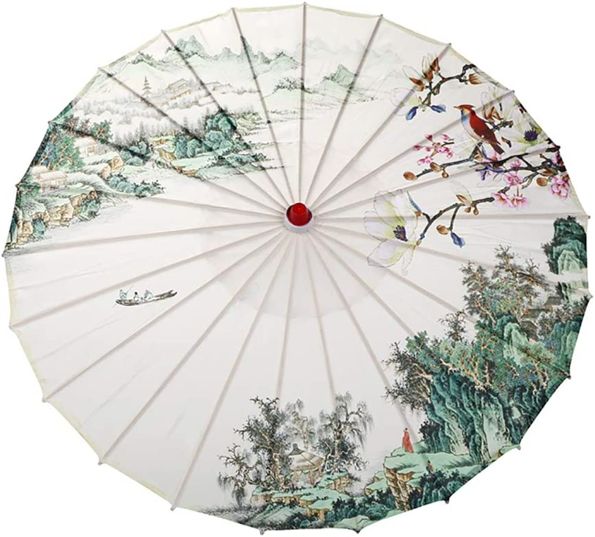 Escolourful Classical Japanese Chinese Style Umbrella Parasol for Wedding Parties, Photography, Costumes, Cosplay, Decoration and Other Events