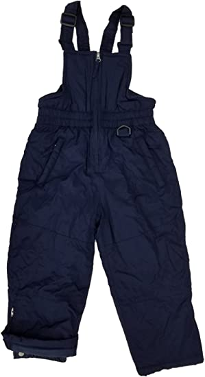 Athletic Works Little Girls Navy Blue Wind Resistant Insulated Snow Bib Overalls Ski Pants