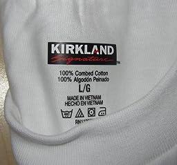 Amazon.com: Kirkland Signature Men's Crew Neck T-shirt, White ...