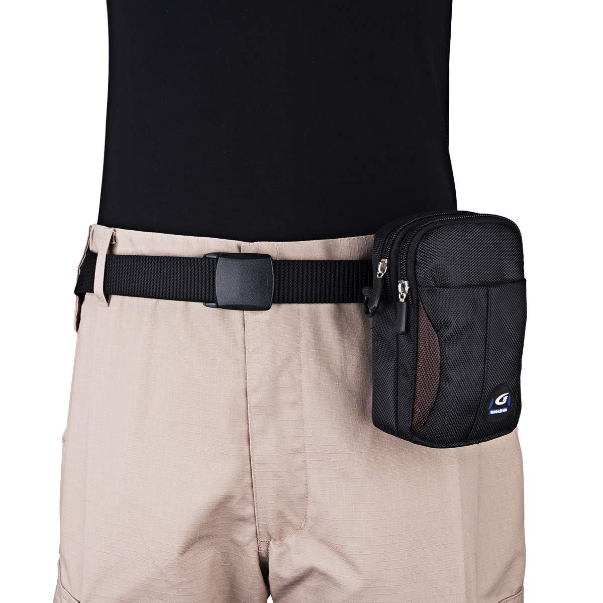 IronSeals AQ Tactical Waterproof Shoulder Tape 1000D Nylon Molle EDC Belt Waist Pouch Bag Zipper Tough D-Ring Two Interlayer Wallet