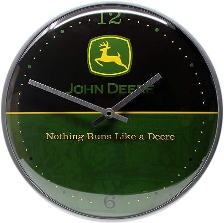 M/étal Logo Nostalgic-Art Thermom/ètre John Deere John Deere 28 x 6.5 x 2 cm
