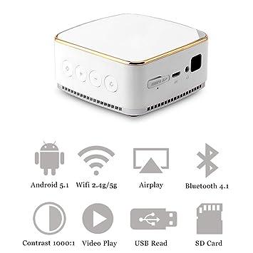 Proyector móvil, DL-S8 + Miniatura DLP Wireless WiFi Smartphone ...