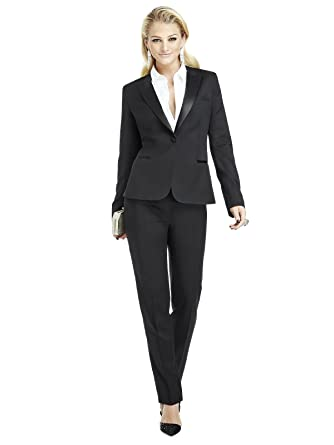 1b5e4f95cf0 THE DESSY GROUP Women's Marlowe Peak Collar Wool Tuxedo Jacket by Dessy  Group at Amazon Women's Clothing store: