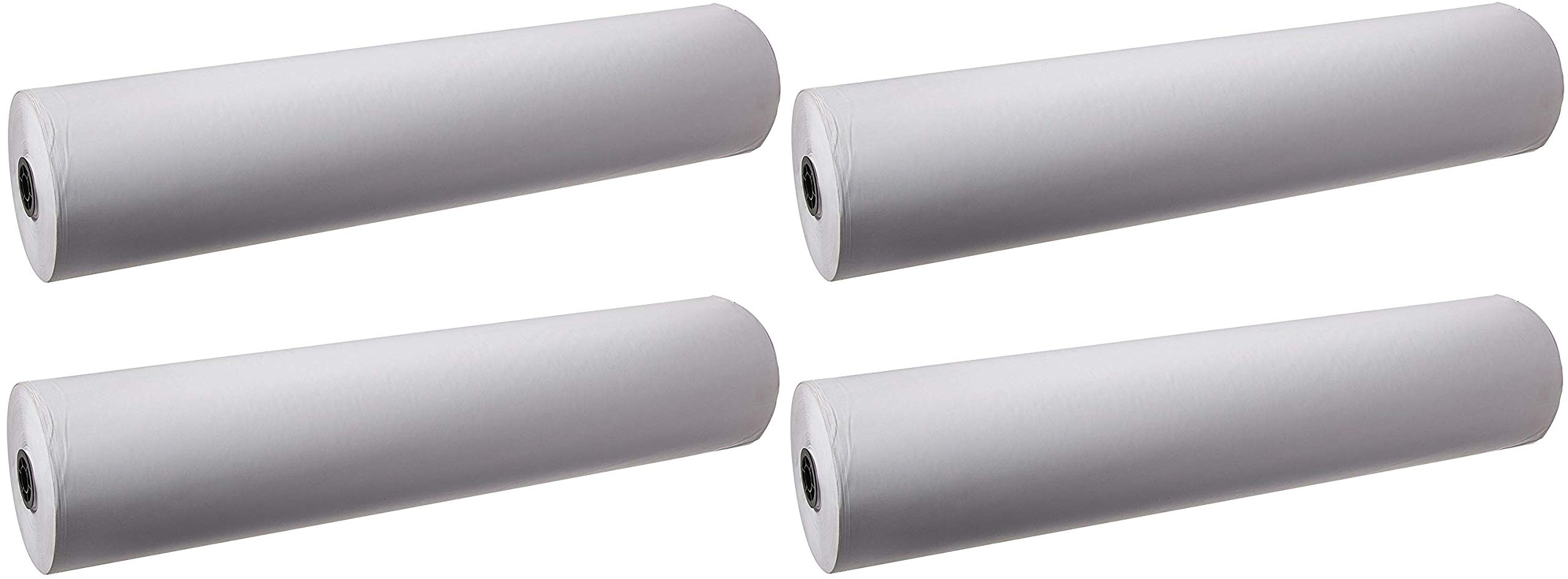 School Smart Butcher Kraft Paper Roll, 50 lb, 36 Inches x 1000 Feet, White (Pack of 4) by School Smart (Image #1)