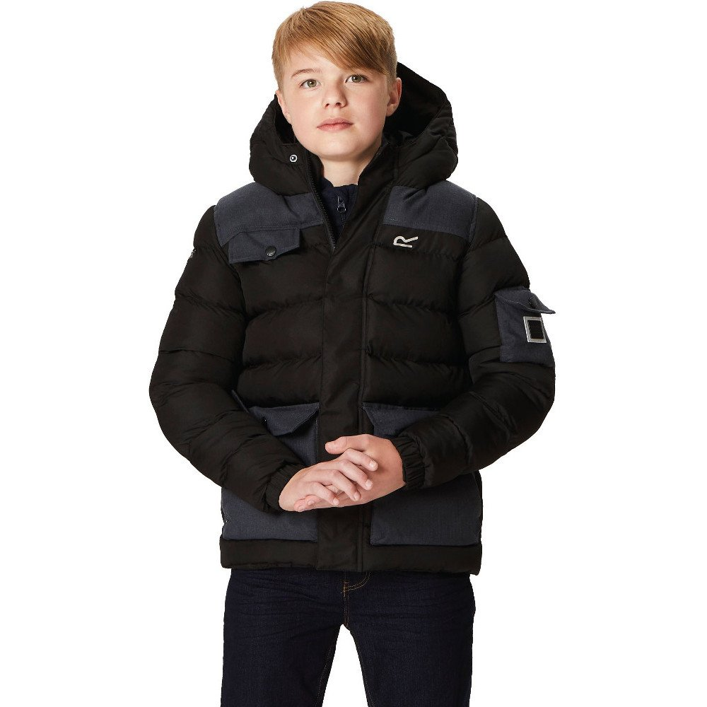 Regatta Children's Larimar Quilted Thermoguard Insulated Water Repellent Hooded Jacket RKN076