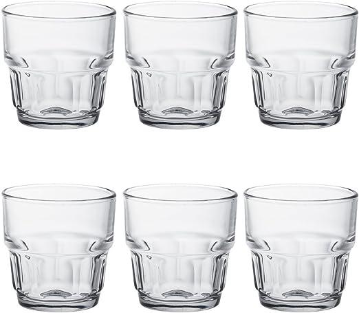 Duralex 1019 AB06 Lola – Juego de 6 Vasos de Cristal (7 cm ...